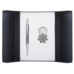 Набор подарочный Langres Star: ручка шариковая + брелок, черный (LS.122014-01)