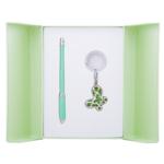 Набор подарочный Langres Night Moth: ручка шариковая + брелок, зеленый (LS.122018-04)