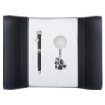 Набор подарочный Langres Romance: ручка шариковая + брелок, черный (LS.122020-01)
