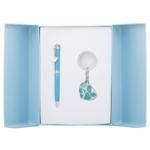 Набор подарочный Langres Romance: ручка шариковая + брелок, синий (LS.122020-02)