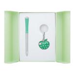 Набор подарочный Langres Apple: ручка шариковая + брелок, зеленый (LS.122024-04)