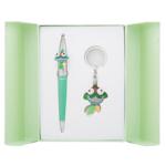 Набор подарочный Langres Goldfish: ручка шариковая + брелок, зеленый (LS.122025-04)