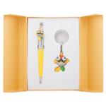Набор подарочный Langres Goldfish: ручка шариковая + брелок, желтый (LS.122025-08)