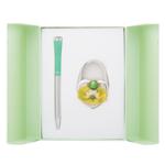 Набор подарочный Langres Fairy Tale (ручка шариковая и крючок для сумки) Зеленый (LS.122027-04)
