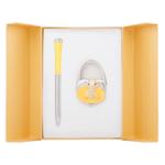 Набор подарочный Langres Fairy Tale (ручка шариковая и крючок для сумки) Желтый (LS.122027-08)
