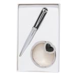 Набор подарочный Langres Crystal (ручка шариковая и крючок для сумки) Черный (LS.122028-01)