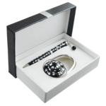 Набор подарочный Langres Elegance (ручка шариковая и крючок для сумки) Черный (LS.122029-01)