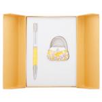 Набор подарочный Langres Sense (ручка шариковая и крючок для сумки) Желтый (LS.122031-08)