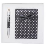 Набор подарочный Langres Monro: ручка шариковая + зеркало, черный (LS.122036-01)