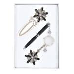 Набор подарочный Langres Star: ручка шариковая + брелок + закладка для книг, черный (LS.132000-01)