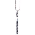 Ручка шариковая Langres Lace, с цепочкой 70 см, белый, в подарочном футляре (LS.402027-12)