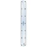 Линейка пластиковая Maped Essentials, 20 см, двухсторонняя шкала, прозрачный (MP.146108)