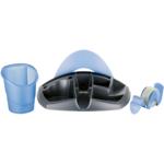 Подставка для офисных принадлежностей Maped Essentials Desk, черный с синим (MP.751212)