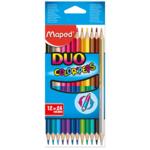 Карандаши цветные Maped Color Peps Duo двухсторонние 12 шт. 24 цвета (MP.829600)