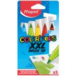 Фломастеры Maped Color Peps XXL брашевые 5 цв (MP.844705)