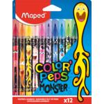 Фломастеры Maped Color Peps Monster 12 цв (MP.845400)