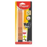 Набор из 6-ти чернографитовых карандашей Maped Black Peps HB + ластик (MP.850017FC)