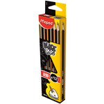 Карандаш графитовый Maped Black Peps, 2B, без ластика (MP.850022)