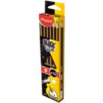 Карандаш графитовый Maped Black Peps, B, без ластика (MP.851724)
