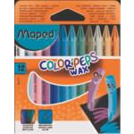 Мелки восковые Maped Color Peps Wax Crayons 12 цветов (MP.861011)