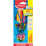 Карандаши цветные Maped Color Peps Classic 12 цветов + 12 наклеек (MP.862725)