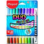 Фломастеры Maped Color Peps Duo MP.847010, 20 цветов