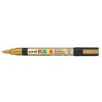 Маркер для всех типов поверхности Uni Posca, 0,9-1,3 мм, золото (PC-3M.Gold)