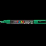 Маркер для всех типов поверхности Uni Posca, 0,9-1,3 мм, зеленый (PC-3M.Green)