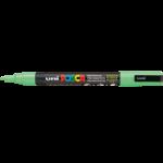 Маркер для всех типов поверхности Uni Posca, 0,9-1,3 мм, салатовый (PC-3M.L.Green)