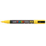 Маркер для всех типов поверхности Uni Posca, 0,9-1,3 мм, желтый (PC-3M.Yellow)