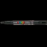 Маркер для всех типов поверхности Uni Posca, 0,9-1,3 мм, черный (PC-3M.Black)