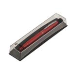 Ручка шариковая Regal с глянцевым лакированным корпусом красного цвета в пластиковом футляре Синяя (R285205.PB10.B)