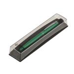 Ручка шариковая Regal с глянцевым лакированным корпусом зеленого цвета в пластиковом футляре Синяя (R285422.PB10.B)