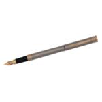 Ручка перьевая Regal с корпусом из нержавеющей стали в бархатном чехле Черная (R68007.F)