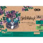 Скетчбук ZiBi Art Line А4, 40 листов, пружина, кремовый блок 100 г/м2 (ZB.1482)