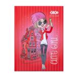 Блокнот ZiBi Cute Girl A6 в клетку на 64 листа Красный (ZB.12715-05)