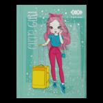 Блокнот ZiBi Cute Girl A6 в клетку на 64 листа Бирюзовый (ZB.12715-06)