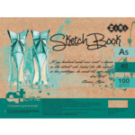 Скетчбук ZiBi Art Line А5, 40 листов, пружина, кремовый блок 100 г/м2 (ZB.1489)