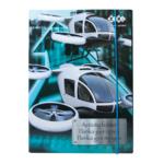 Папка для труда ZiBi Kids Line Helicopter, картонная на резинке, А4+ 300х212х28мм (ZB.14913)