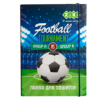 Папка для тетрадей ZiBi Football, картонная на резинке, B5+ 175х245х25мм (ZB.14965)