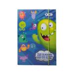 Папка для тетрадей ZiBi Monsters, картонная на резинке, B5+ 175х245х25мм (ZB.14967)