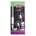 Ручка гелевая ZiBi Art Line BLACK PAPER белая (ZB.2208-12)