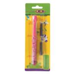 Ручка перьевая Zibi ZB.2243, + 2 капсулы, пластик, розовый корпус, блистер