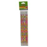 Карандаш графитовый ZiBi Flowers, HB, ластик, блистер, 5 шт (ZB.2300-5)