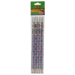 Карандаш графитовый ZiBi Marine, HB, ластик, блистер, 5 шт (ZB.2304-5)
