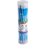 Карандаш графитовый ZiBi Kids Line ZiBiman HB с ластиком (ZB.2312-20)
