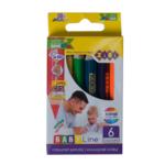 Карандаши цветные ZiBi Baby Line Mini Jumbo 6 цветов (ZB.2450)
