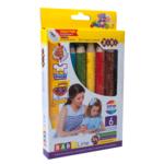 Карандаши цветные 3 в 1 ZiBi Baby Line Super Jumbo с точилкой, 6 цветов (ZB.2453)