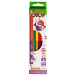 Карандаши цветные ZiBi Kids Line Double 12 цветов (ZB.2462)