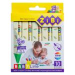 Карандаши восковые ZiBi Jumbo Baby Line трехгранные 10 цветов (ZB.2482)